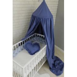 Baby Nellys Nebesa, závěsný stan z celé látky - modrá
