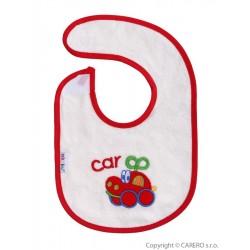 Dětský bryndák Akuku s autíčkem, Červená