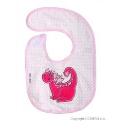 Dětský bryndák Akuku s dráčkem - růžový, Růžová