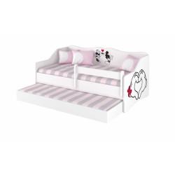 BabyBoo Dětská postel LULU 160 x 80 cm - bílá Love