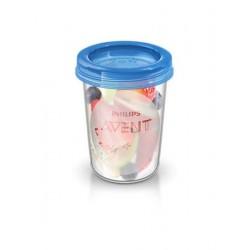 Sada Via pohárků s víčkem Avent 240 ml - 5 ks