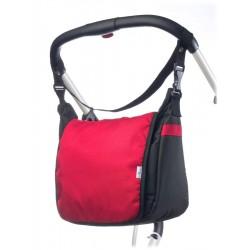 Taška na kočárek CARETERO - red, Červená