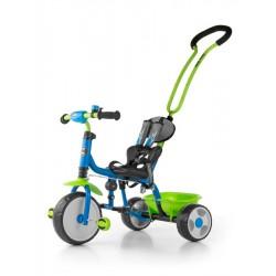 Dětská tříkolka se zvonkem Milly Mally Boby 2015 blue-green