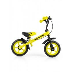 Dětské odrážedlo kolo Milly Mally Dragon s brzdou yellow