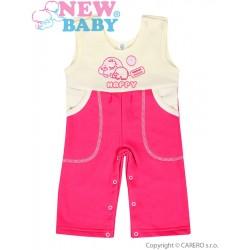 Dětské lacláčky New Baby Happy malinové, Růžová, 80 (9-12m)