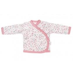 Mamatti Novozenecká bavlněná košilka zapínání bokem, Tokio - růžovo,bílá