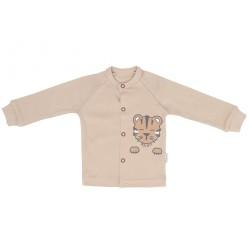 Mamatti Novozenecká bavlněná košilka, kabátek Lion - béžová