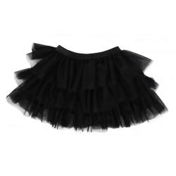 Mamatti Dětská tylová sukně Mašle - černá