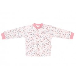 Mamatti Novozenecká bavlněná košilka, kabátek Tokio - růžovo,bílá