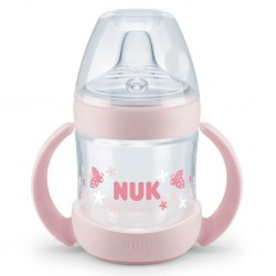 Kojenecká láhev na učení NUK Nature Sense 150 ml růžová, Růžová