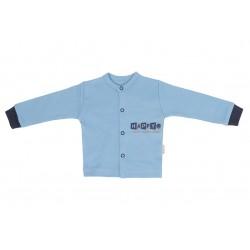 Mamatti Novozenecká bavlněná košilka, kabátek Happy - modrá