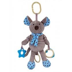 Plyšová hračka se zvukem Baby Mix Myška modrá
