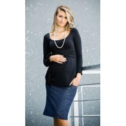 Těhotenské sukně SARA - modrá