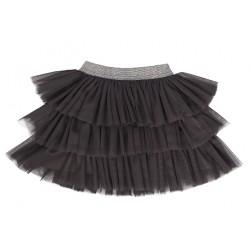 Mamatti Kojenecká tylová sukně Rozeta, tm. šedá
