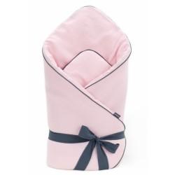 Mamo Tato Kojenecká zavinovačka, mušelinová double na zavazování, 70x70cm - světle růžová