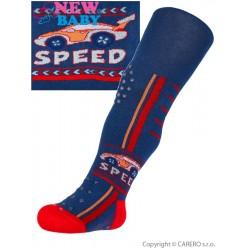 Bavlněné punčocháčky New Baby 3xABS tmavě modré speed, Modrá, 92 (18-24m)