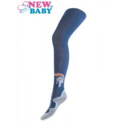 Bavlněné punčocháče New Baby tmavě modré sparta, Modrá, 128 (7-8 let)