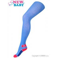 Bavlněné punčocháče New Baby modré s písmenem F, Modrá, 128 (7-8 let)
