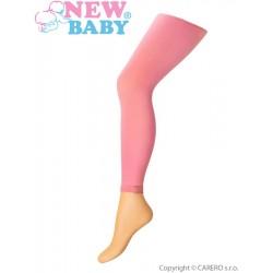 Tenké jednobarevné legínky New Baby růžové