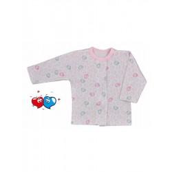 Kojenecký kabátek Koala Magnetky růžový se spirálkami, Růžová, 62 (3-6m)