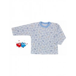 Kojenecký kabátek Koala Magnetky modrý s kostičkami, Modrá, 56 (0-3m)