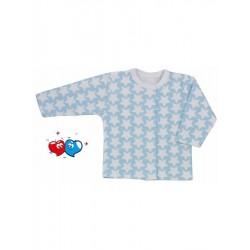 Kojenecký kabátek Koala Magnetky modrý s hvězdičkami, Modrá, 56 (0-3m)