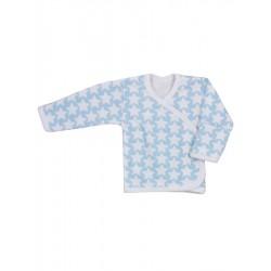 Kojenecká košilka Koala Magnetky modrá s hvězdičkami, Modrá, 68 (4-6m)