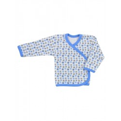 Kojenecká košilka Koala Magnetky modrá s tlapkami, Modrá, 68 (4-6m)