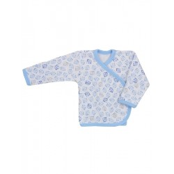 Kojenecká košilka Koala Magnetky modrá s kostičkami, Modrá, 68 (4-6m)