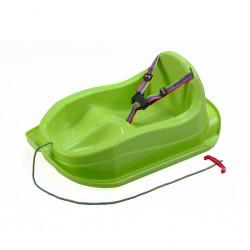 Plastové sáňky s opěradlem BAYO MINI zelené, Zelená
