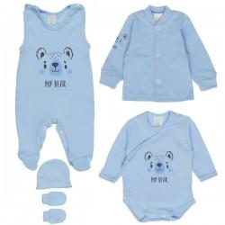 MBaby 5D Soupravička do porodnice - My Bear, modrá
