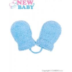 Dětské zimní rukavičky New Baby se šňůrkou modré