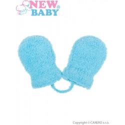 Dětské zimní rukavičky New Baby se šňůrkou světle modré