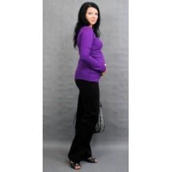 Těhotenské triko ELLIS - fialová