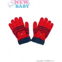 Dětské zimní froté rukavičky New Baby červené