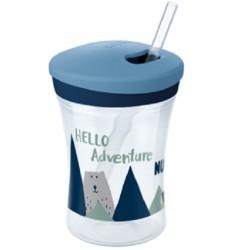 Nekapající hrneček NUK Action Cup se slámkou, Hello Adventure - HORY