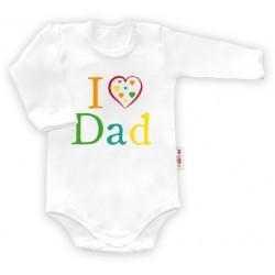 Body dlouhý rukáv I love Dad