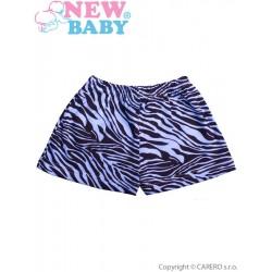 Dětské kraťasy New Baby Zebra modré, Modrá, 62 (3-6m)