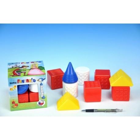 Kostky kubus Fantazie plast 9ks v krabičce 6m+