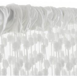 Dětská záclona nejen do pokojíčku Baby Ball, 150x240 cm, bílá - 1ks