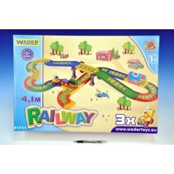 Kid Cars - Železnice s městem 4,1m v krabici Wader
