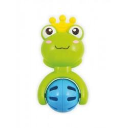 Dětské chrastítko Baby Mix žabička, Zelená