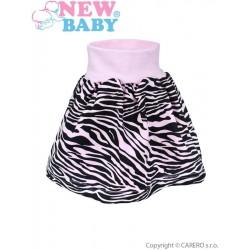 Dětská suknička New Baby Zebra růžová, Růžová, 80 (9-12m)