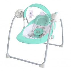 Dětské houpací lehátko NEW BABY TEDDY Mint, Zelená