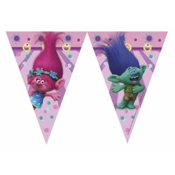 PROCOS girlanda vlajky Trollové - Trolls 9 ks