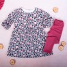 K-Baby 2 dílná sada - šaty + legíny, Kvítky