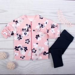 K-Baby 2-sada mikina + legíny, růžová/černá