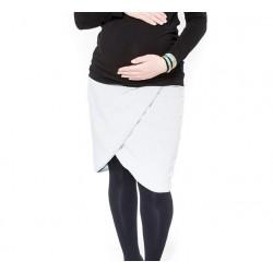 Těhotenská sukně Be MaaMaa - KALIA sv. šedá