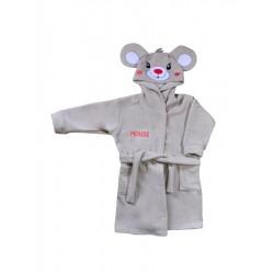 Dětský župan s kapucí Koala Tvoreček béžový
