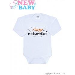 Body s potiskem New Baby Happy Halloween, Oranžová, 50
